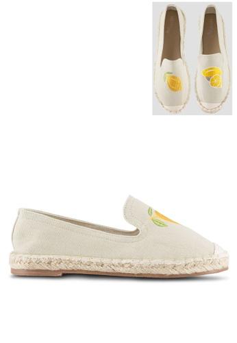 Velvet beige Play! Lemon Zest Slip On Espadrilles A2C5CSHE30CAF4GS_1