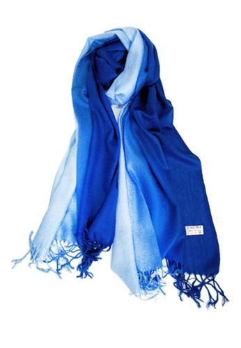 SHINE blue Gradient  Pashmina SH554AC12JJZSG_1