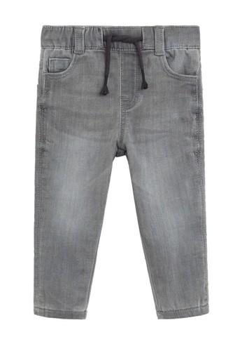 MANGO BABY grey Lace Drawstring Waist Jeans 4F647KA8B23CB2GS_1