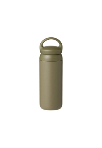 KINTO green Kinto Insulated Day Off Tumbler Water Bottle 500ML Khaki 6FD0AAC4B207E7GS_1