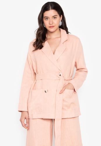 the___edit pink George Linen Blazer AF6A1AAEE1F42DGS_1