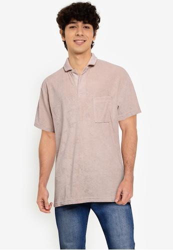 Cotton On beige Textured Polo Shirt 711CCAAC062E5BGS_1