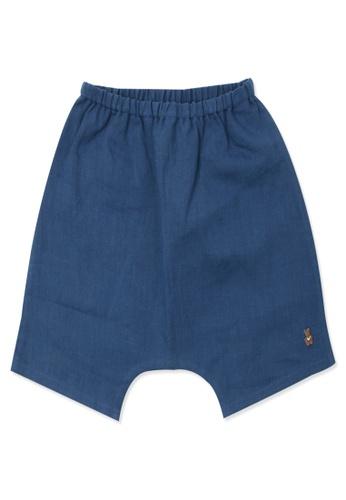 Organic mom blue Organic Cotton  Benly Shorts 7F103KA768B4A0GS_1