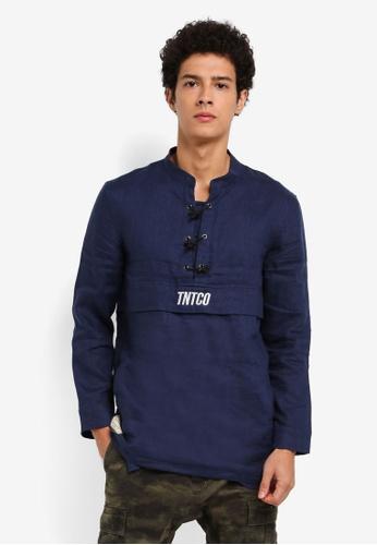 TNTCO navy Chinese Parka Shirt 581B4AA8391143GS_1