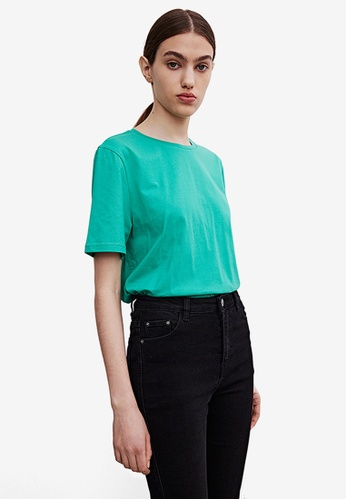 URBAN REVIVO green Women's T-Shirt D67E7AABEE0A91GS_1