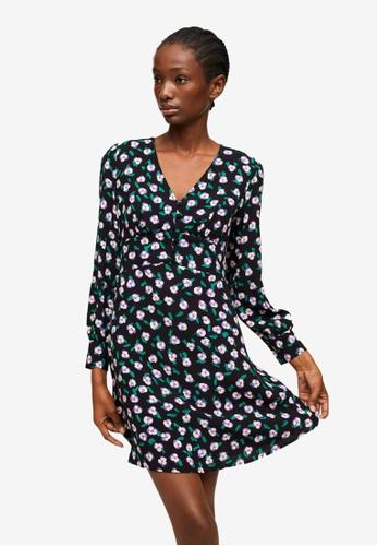 Mango black Printed Short Dress 76296AAAC7ED1AGS_1