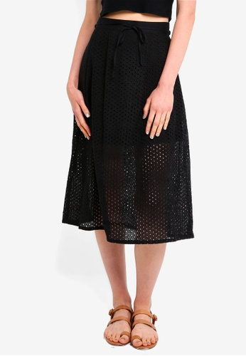 Jack Wills black Oakleigh Lace Midi Skirt B2C8FAA83F611AGS_1