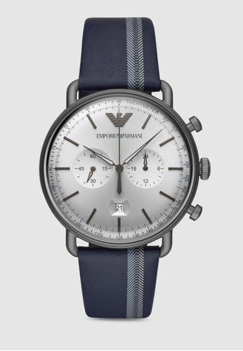 Emporio Armani blue Aviator Watch AR11202 4C62BAC1CF5E10GS_1
