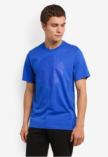 Converse blue Topo Chuckpatch T-Shirt CO302AA0RM87MY_1