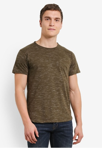 Indicode Jeans green Irwing Melange T-Shirt IN815AA0S9B3MY_1