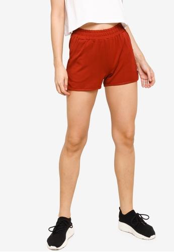UniqTee red Cotton Drawstring Shorts 43DDFAA9E3344DGS_1