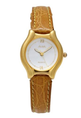 Alba brown ALBA Jam Tangan Wanita - Brown Gold White - Leather Strap - ATCX08 7BA64AC00BB38EGS_1