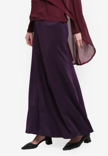 BYN purple Adjustable Long Skirt A9E16AAAE69573GS_1