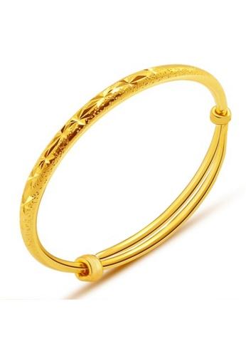 YOUNIQ gold YOUNIQ Premium Slim Classical 24K Plated 2 Units Bangle Set Free YOUNIQ Gold Plated Ring (Gold) 1D076AC0FA1F63GS_1