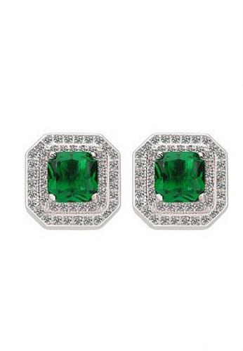 Vivere Rosse green Allure Stud Earrings VI014AC02JOFMY_1