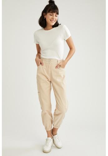 DeFacto beige Woman Woven Trouser 65664AA1669D7FGS_1