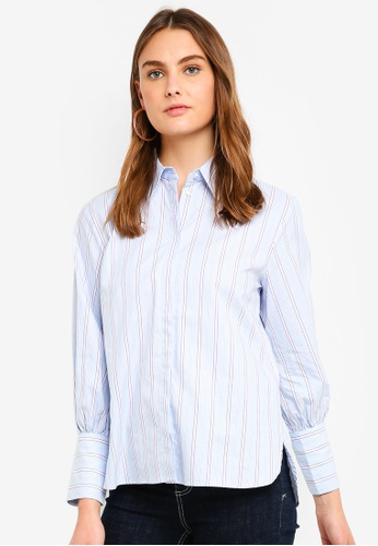 ESPRIT white Woven Long Sleeve Shirt CC407AA445610AGS_1