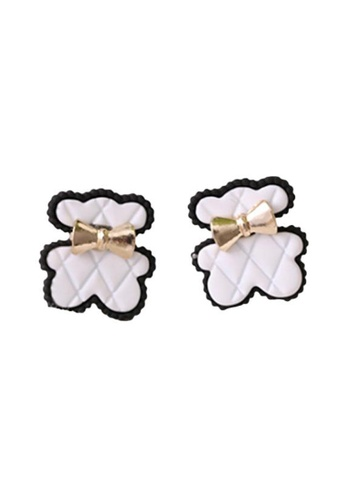 Kings Collection white Cute Bear earrings (KJEA20090) FC21DACEAA1A7CGS_1