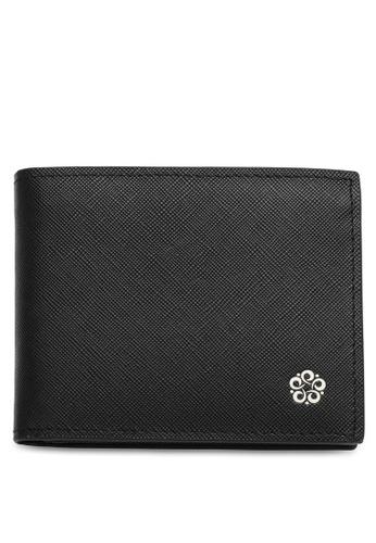 Wild Channel black Men's Genuine Leather RFID Blocking Bi Fold Wallet 3F4ACAC03761CDGS_1