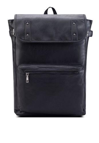 Side Buckle Detail Faux esprit地址Leather Backpack, 韓系時尚, 梳妝