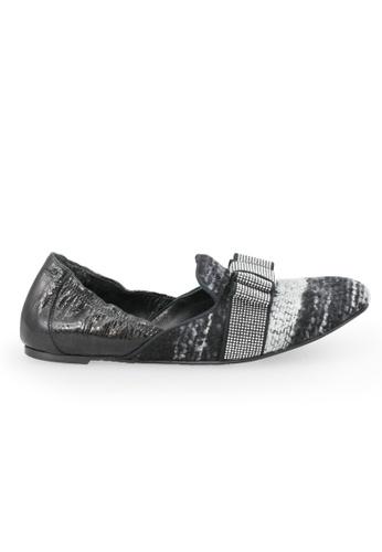 Shu Talk black RAS Fabric Bow Pointy Flats 8B6C9SHB061CDAGS_1
