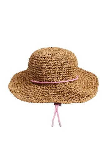 MANGO KIDS brown Crochet Lace Hat 08DE9KCAC739ABGS_1