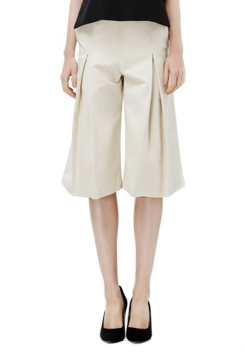 連褲頭活褶寬腿褲, 服飾,salon esprit 九分褲