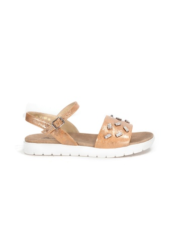 Shu Talk brown Charmmy Comfy Sandals with ankle straps CDE1BSH65A3F72GS_1
