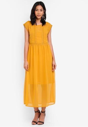 OVS yellow Bohemian Dress 4B5E3AAE184073GS_1