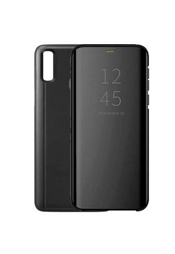 MobileHub black Samsung A20 Clear View Standing Cover Flip Case 1F3B1AC30E95E6GS_1