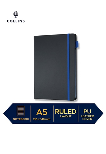 Collins blue Collins Vauxhall Contrast  ─  NotebookA5 Ruled Navy D7D1BHL8684BAFGS_1