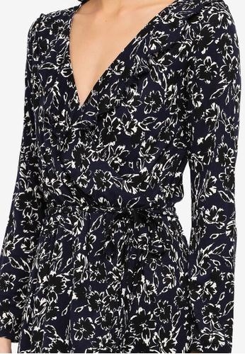 a9ef7262563 Buy French Connection Aubi Meadow Jersey Wrap Dress Online on ZALORA  Singapore