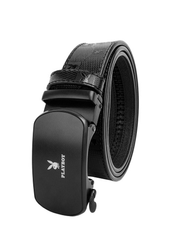 Playboy black 35mm Automatic Belt 12B78AC679E2F3GS_1