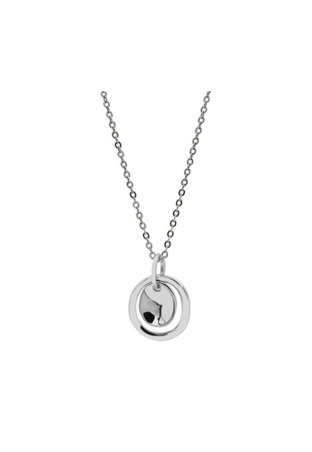 LYCKA silver LDR1347 S925 Silver Classic Sphere Necklace ADCBBACFF04DF4GS_1