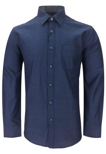 Pacolino blue Casual Smart Long Sleeve Shirt PA995AA0RTQNMY_1