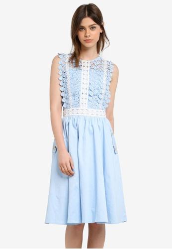 Megane blue Alair Dress ME617AA0S0USMY_1