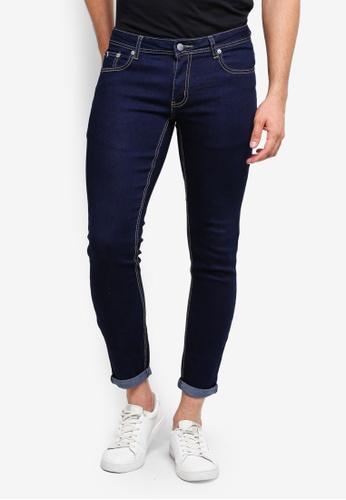 High Cultured 藍色 修身牛仔褲 7C3AFAAA8EC8D5GS_1
