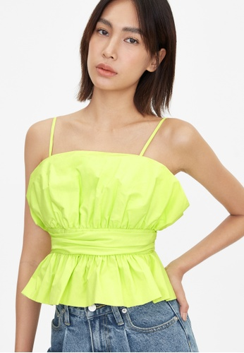 Pomelo green Cami Peplum Blouse - Green EFCF1AA3CDD3C6GS_1