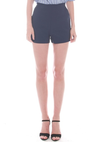 JOVET blue and navy Gold Zip Shorts 0BACDAAA5B410DGS_1