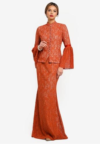 CLARA Modern Kurung from Syomirizwa Gupta for ZALORA in Pink