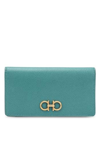 Ferragamo green Gancini Wallet (zt) 39E1DACB273AD2GS_1