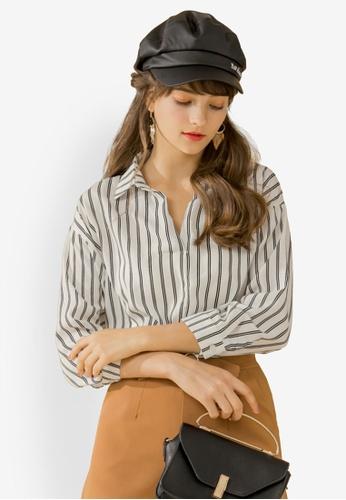 Eyescream white Minimalist Stripe Shirt 3652DAABCFC871GS_1