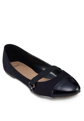 圓頭拼接平底鞋, esprit 童裝女鞋, 鞋