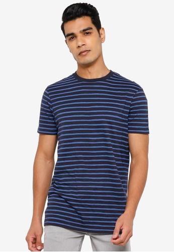Springfield blue Stripy T-Shirt 2FD6CAA0BAE0C5GS_1
