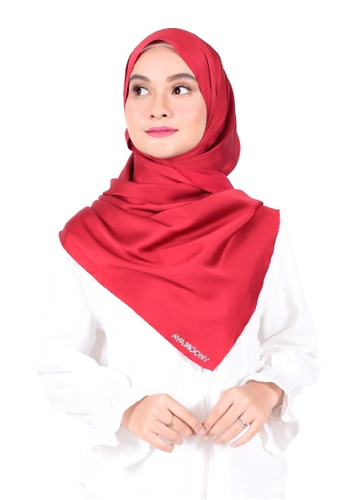 Ava Moony red Thalia Scarf 3D201AA3550226GS_1