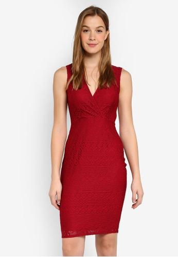 5d2dfdf11600 Buy Dorothy Perkins Lace Wrap Bodycon Dress Online | ZALORA Malaysia