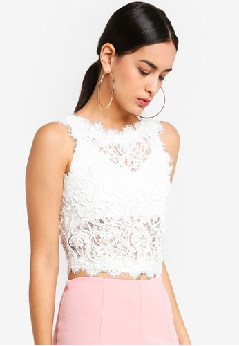 d5b0d38ef0255 MISSGUIDED white Cornelli Lace Sleeveless Crop Top 9612AAAB327ED0GS 1