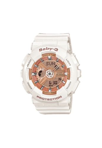 Casio white CASIO BABY-G BA-110PL-7A1DR WHITE RESIN BAND WOMEN'S SPORTS WATCH 7C555AC969F509GS_1