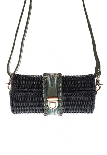 Style Cat black Style Cat Guyam Black Cylinder Wicker Bag CD7AAAC54F10CAGS_1