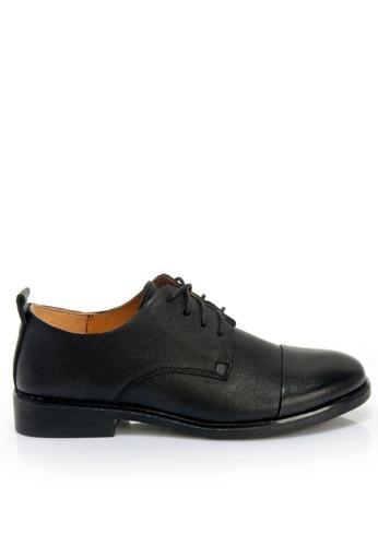 Twenty Eight Shoes 黑色 柔軟羊皮牛津鞋 2051 AB723SHBD4B2E7GS_1